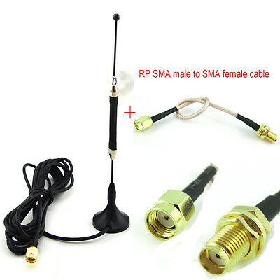 10dbi 4G LTE Antenna SMA Male Plug Router+5.9'' cable RP SMA male to SMA female