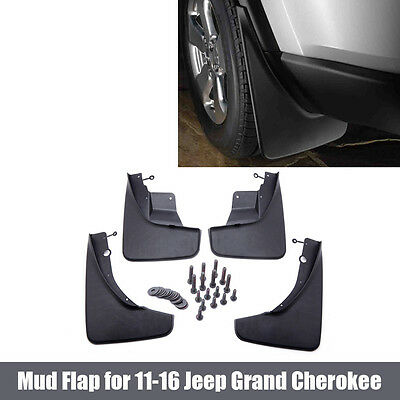 For 11-15 Jeep Grand Cherokee Front Rear Splash Guards Mud Flaps Black 4pcs/Set