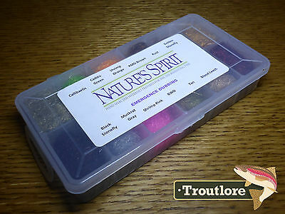 Natures Spirit Emergence Antron Dubbing Dispenser Of 12 - New Fly Tying Material