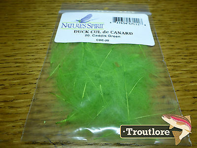 Natures Spirit Caddis Green Cul De Canard Cdc - New Fly Tying Feathers