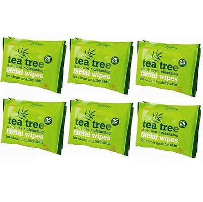 150 x Daily Use Cleansing Tea Tree Facial Wipes Makeup Remover Healthy Skin