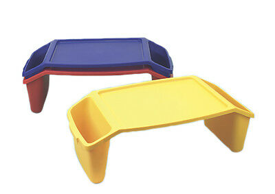 Plastic bed tray with side pockets  1 EA