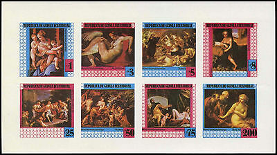 Equatorial Guinea 1970's Paintings MNH Imperf Sheet #C29005