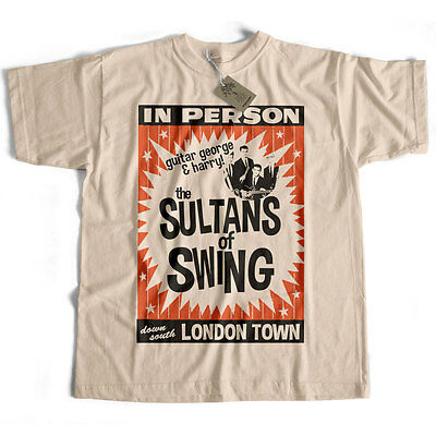 Inspired by Dire Straits T shirt - Sultans Of Swing Gig Poster Mark Knopfler