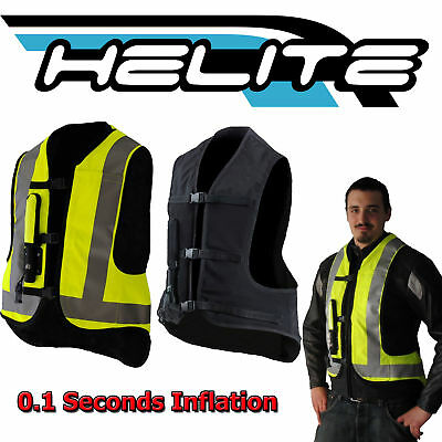 Helite Air Nest Black Motorcycle Motorbike Protective Air Safety Bag Vest