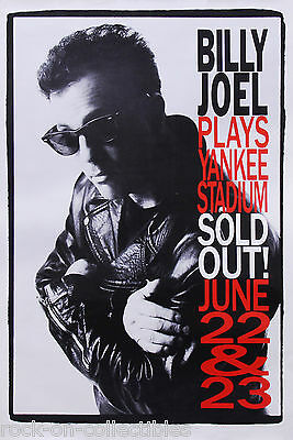 Billy Joel 1990 Plays Yankee Stadium Original Promo Poster Rare