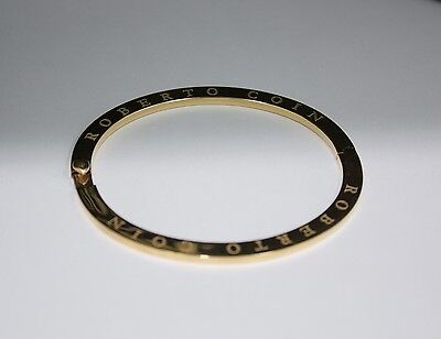 Roberto Coin Ladies Bangle 18 Kt Yellow Gold Bracelet - Made in Italy
