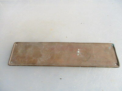 Antique Copper Finger Plate Push Door Handle Vintage Old 1910 Edwardian