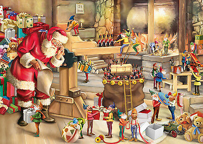 King Santa's Workshop Christmas Jigsaw Puzzle (1000 Pieces) - Brand New
