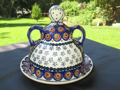 Mother Baked Cookies Muffins / Covered Cheese Butter Dish Boleslawiec Poland Art