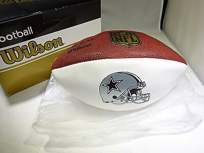 "Wilson ""The Duke"" Official NFL Game Football Dallas Cowboys Autograph Series"