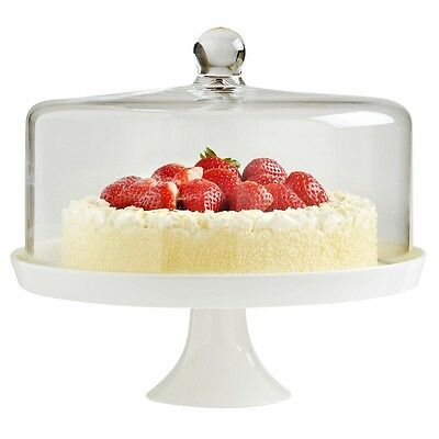 VonShef Ceramic Cake Stand with Lid