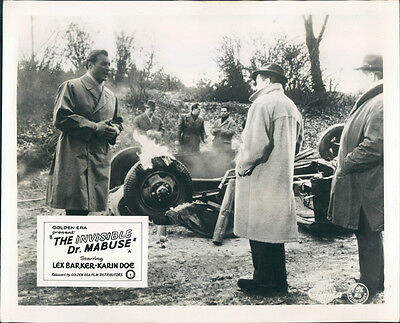 The Invisible Dr. Mabuse Original Lobby Card Lex Barker Car Crash