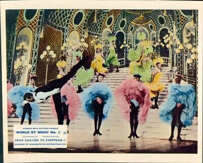 World By Night No. 2 Can Can Striptease Lobby Card French Dancers