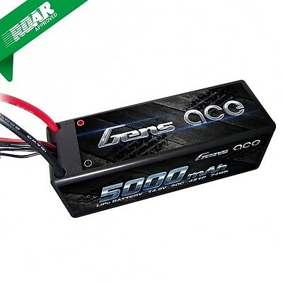 Gens Ace 4S 5000mAh 14.8V 50C 4S1P HardCase Lipo Battery with Deans Plug