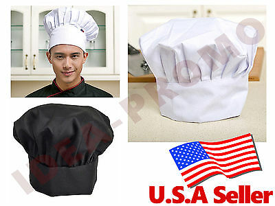 Chef Hat Adjustable Elastic Baker Kitchen Cooking Hat Cap
