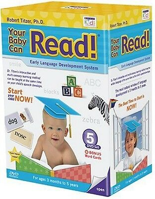 YOUR BABY CAN READ Early Language Development System 5 Interactive DVD's + Bonus