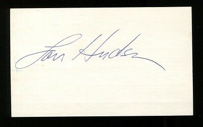Lou Hudson Signed Index Card 3x5 Autographed NBA Hawks
