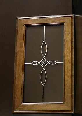 "Kraftmaid Kitchen Glass Door Sunset Cherry Finish For 18""x30""  Wall Cabinet"