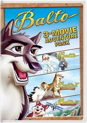 Balto: 3-Movie Adventure Pack [New DVD] 2 Pack, Snap Case