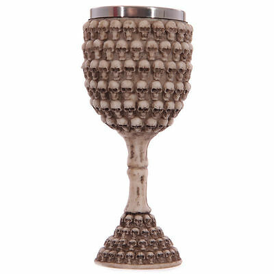 Decorative Gothic Multi Skulls Goblet