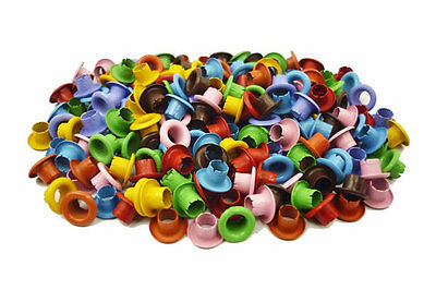 """200pcs 5/32"""" (4mm) Hole Mixed Colors Round EYELETS Scrapbooking CARD Craft E098"""