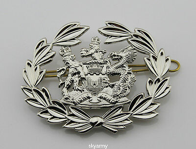 Obsolete Royal Hong Kong Police Force Station Sergeant Arm Badge-replica
