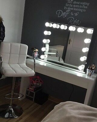 12 LED Hollywood Mirror Makeup Vanity Mirror illuminated Mirror Dressing Table