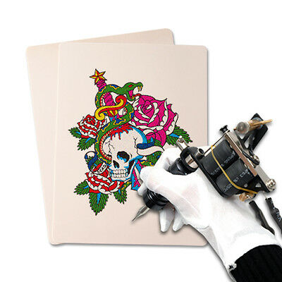 10 x Peau factice Synthétique tatouage tatouer vierge chair exercice tattoo