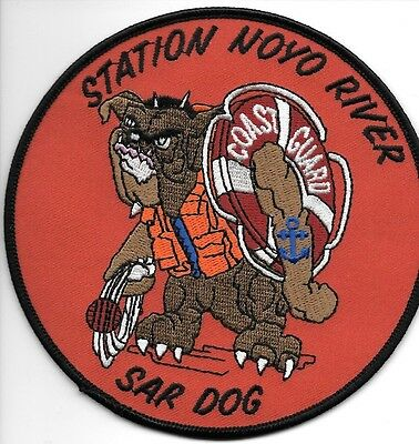 "USCG Coast Guard Patch - Station Noyo River  ""SAR DOG"" (5"" round) (fire)"