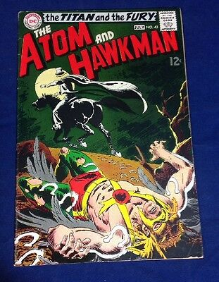The Atom And Hawkman #43 DC Silver Age 1969 Joe Kubert Cover Higher Grade