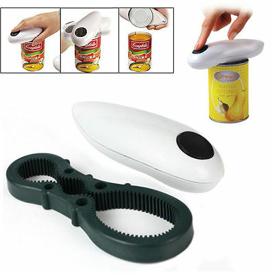 New Automatic Electric Jar Bottle Opener Kitchen Hands Can Food One Touch Opener