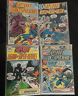 Superboy and the Legion of Super Heroes Lot of 3 #244, 220, 229 Fine