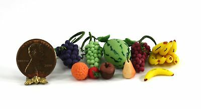 by Bright deLights Dollhouse Miniature Assorted Fruit in Ceramic Bowl Set 2