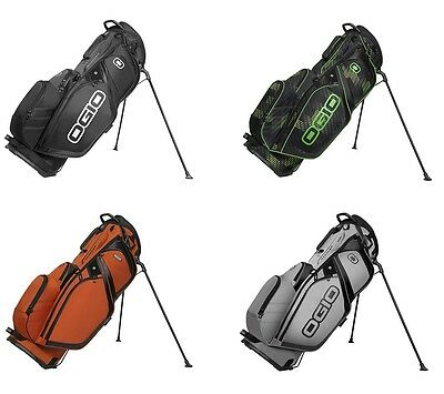 OGIO SILENCER STAND MENS GOLF BAG -14 WAY TOP w/ 7 POCKETS 2016 - PICK COLOR!