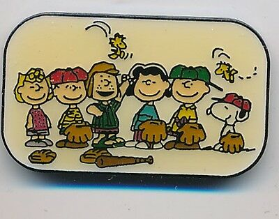Peanuts Gang Baseball Team Pin Vintage!