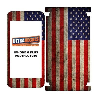 Skin Decal Sticker Wrap Vinyl For iPhone 6/6S Plus Vintage US American Flag