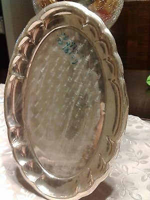 Oval silver plate sterling (925) 24.5 x 17 cm 119gr