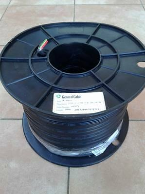 Industrial Black 100m Roll Electrical Cable Two Core & Earth  2.5mm 16140016