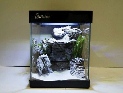 Nano Aquarium G-20 en noir Aquarium complet Mini- +LED éclairage