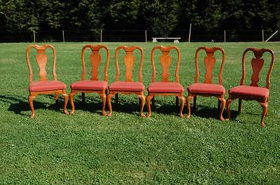 Quality! Six Matching Queen Anne Style Dining Chairs