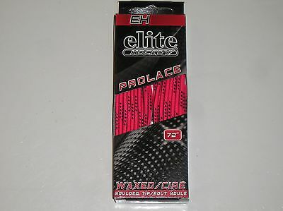 """NIB EH Elite Hockey Waxed Moulded Tip Laces Skate Pink 72"""" Lace Pro-Series"""