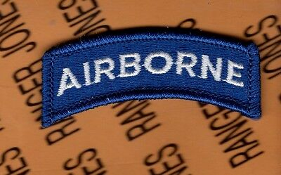 US Army Airborne Blue & White Qualification tab patch B