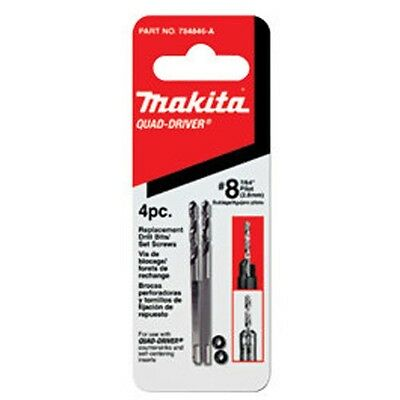 "MAKITA 784846-A Quad-Driver Countersink  #8 7/64"" 2,8mm Replacement Drill Bits"