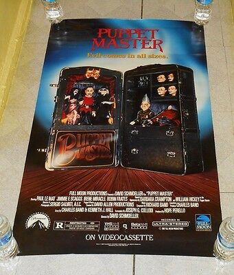 original PUPPET MASTER video store poster Charles Band