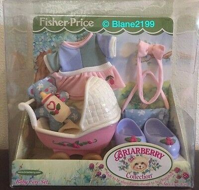 NIB Briarberry Collection Baby Care Set Fisher Price Bear Carriage Stroller 2000