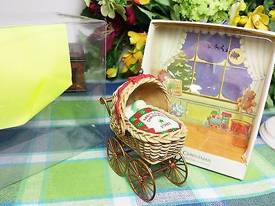 Hallmark Baby's First Christmas ornament 1981 Baby in carriage