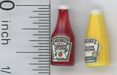 Dollhouse Miniatures 1:12 Scale Ketchup and Mustard Item #IM65023