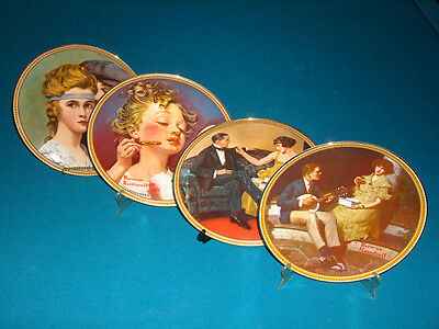 Norman Rockwell Society Knowles Collectors Plates Roaring Twenties (4) 1980's