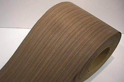 Real wood Veneer Wenge Stripe with Hot melt adhesive iron-on 30 cm Wide